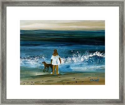 Blissful Sea Framed Print