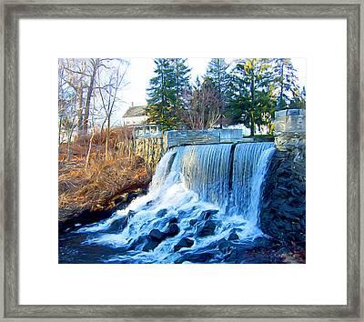 Blissville Falls Framed Print
