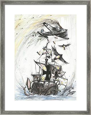 Blitzkrieg Of Whimsy Framed Print by Tai Taeoalii