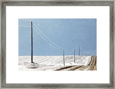 Blizzard Blue Framed Print