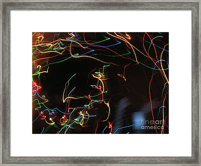 Framed Print featuring the photograph Blizzard Of Colorful Lights. Dancing Lights Series by Ausra Huntington nee Paulauskaite