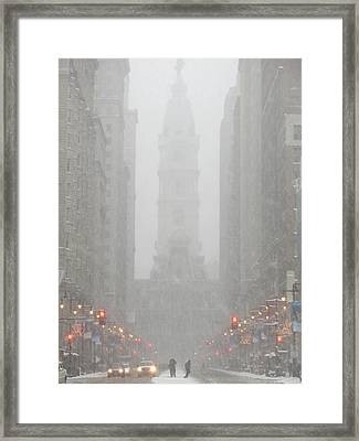 Snow In The City Framed Print by Christopher Woods
