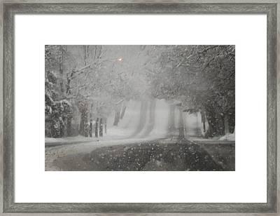 Blizzard Road Framed Print