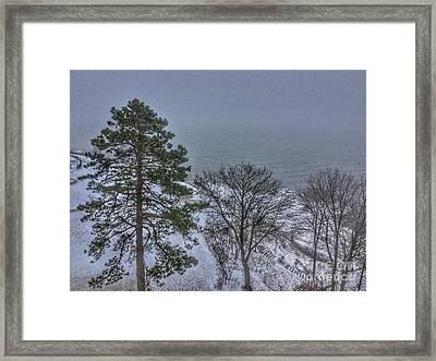 Blizzard Stella On Casco Bay Framed Print