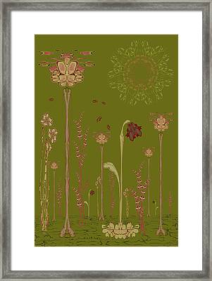 Blob Flower Garden Full View Framed Print