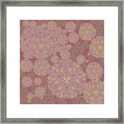 Blob Flower Painting #3 Pink Framed Print