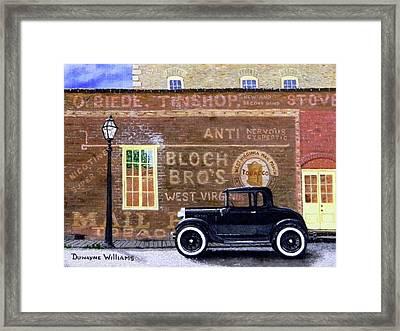 Bloch's Wall Framed Print