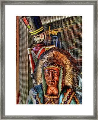 Block Heads Framed Print by Joetta West