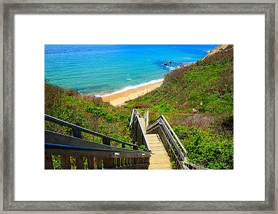 Block Island Art Framed Print by Lourry Legarde