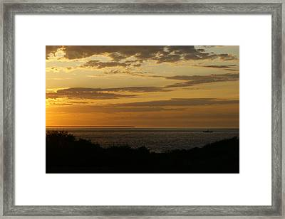 Block Island From Montauk Point Framed Print by Christopher Kirby