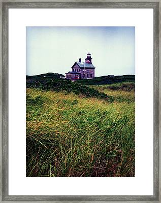 Block Island Light-house Framed Print