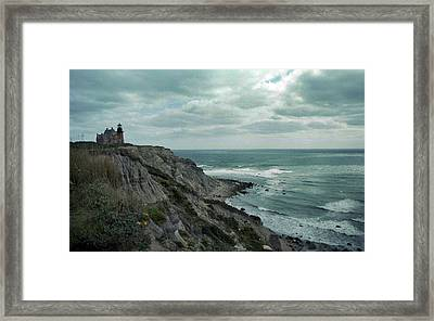 Block Island South East Lighthouse Framed Print by Skip Willits