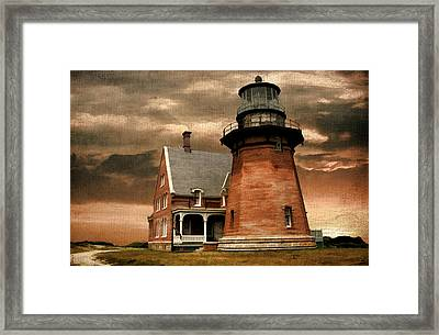 Block Island Southeast Light Framed Print by Lourry Legarde