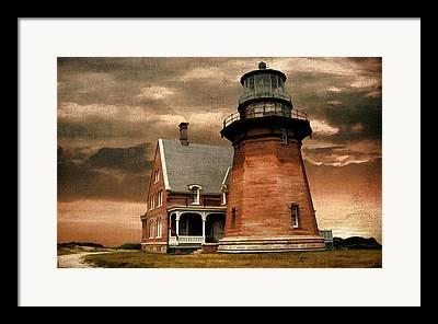 New England Landscape Digital Art Framed Prints