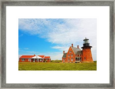 Block Island Southeast Lighthouse Rhode Island Framed Print by Lourry Legarde