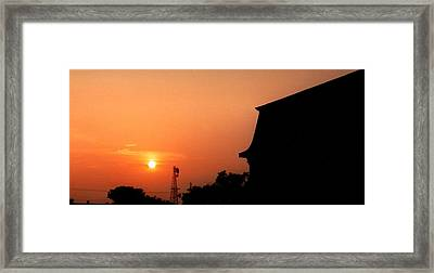 Block Island Sunset Framed Print