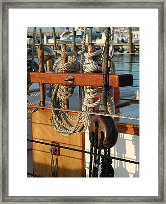 Block  Line  And Tackle Framed Print