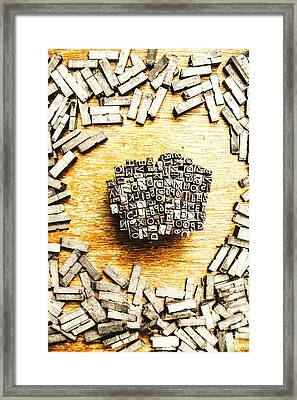 Block Of Communication Framed Print