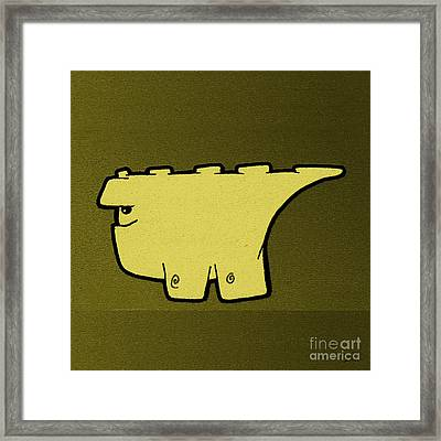 Blockasaurus Framed Print by Uncle J's Monsters