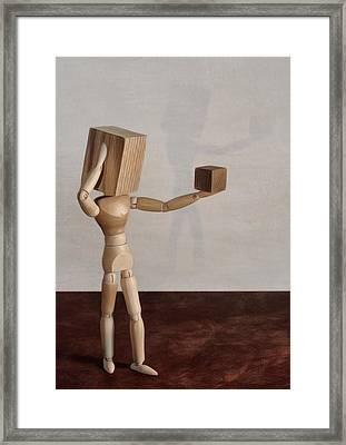 Blockhead Framed Print by Mark Fuller