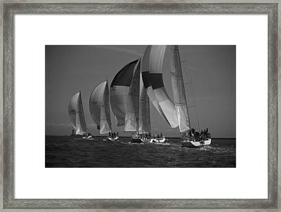Blocking Your Wind Framed Print
