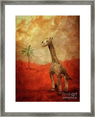 Framed Print featuring the digital art Block's Great Adventure by Lois Bryan