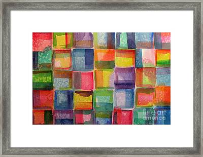 Blocks II Framed Print