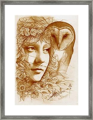 Blodeuwedd Framed Print