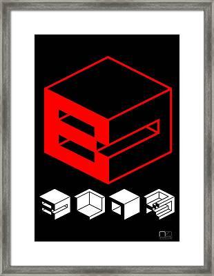 Blok Poster Framed Print by Naxart Studio
