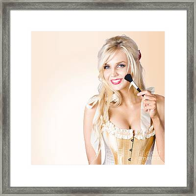 Blond Beauty. Performing Arts Makeup Model Framed Print by Jorgo Photography - Wall Art Gallery