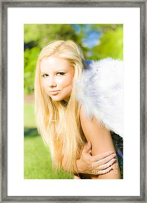 Blonde Angel Framed Print by Jorgo Photography - Wall Art Gallery