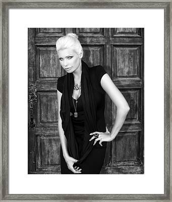 Blonde Attitude Bw Palm Springs Framed Print by William Dey