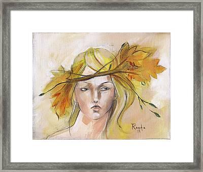 Blonde Autumn Forward Framed Print by Jacque Hudson