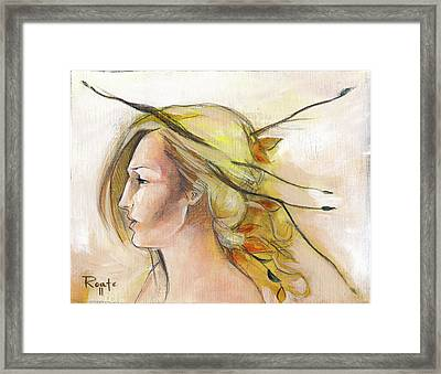 Blonde Autumn Left Framed Print by Jacque Hudson