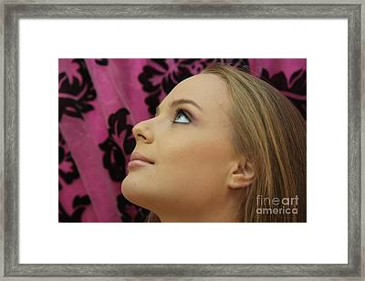 Blonde Beauty And Youth Framed Print