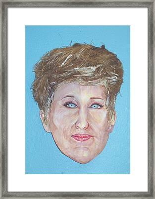 Blonde Comedian W Mullet - Do Framed Print by Ellen Burns