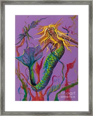 Blonde Mermaid Framed Print by Mary DuCharme