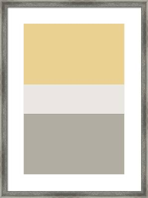 Blonde Oatmeal Tricolor Framed Print by Cecely Bloom