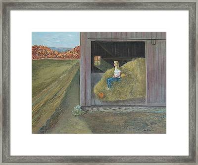 Blonde Framed Print