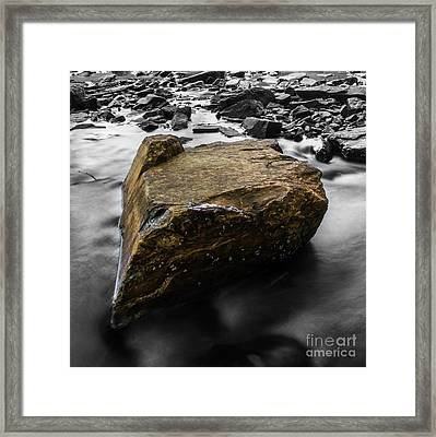 Blonde Rock Framed Print
