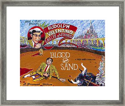 Blood And Sand - 1922 Lobby Card That Never Was Framed Print