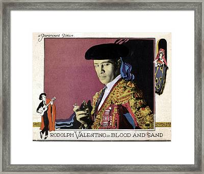 Blood And Sand, Rudolph Valentino, 1922 Framed Print by Everett