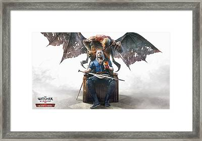 Blood And Wine Framed Print by Lobito Caulimon