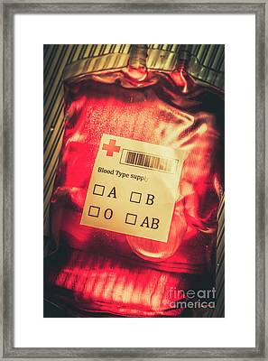 Blood Donation Bag Framed Print