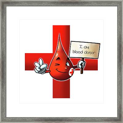 Blood Donor Framed Print by Petar Lazarov