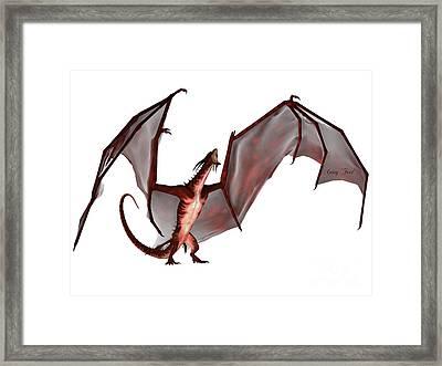 Blood Dragon Scream Framed Print by Corey Ford