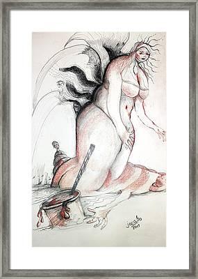 Blood Drink Framed Print by Jacabo Navarro