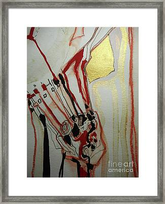 Blood Flowers Framed Print by Katerina Stamatelos