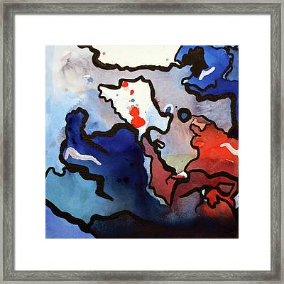 Blood In The Water 1 Of 4 Framed Print