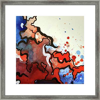 Blood In The Water 2 Of 4 Framed Print